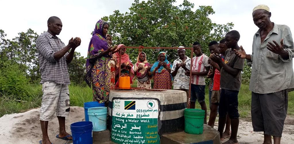 Digging 20 wells in Tanzania