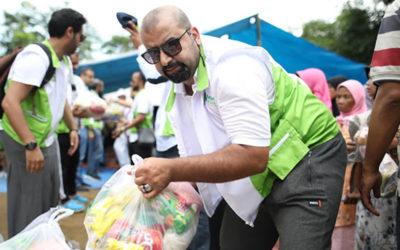توزيع سلات رمضانية