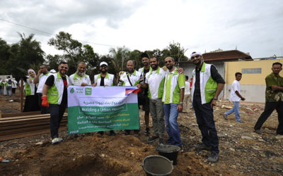 Setting the cornerstone for building new houses