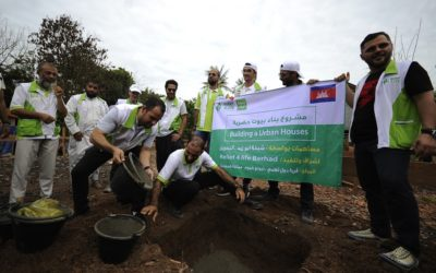 Put 6 homes foundation stones