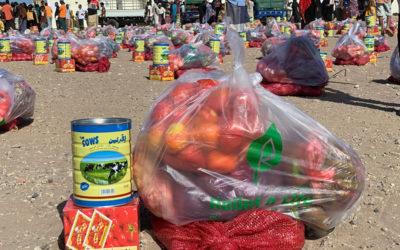 توزيع سلات غذائية