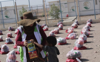 Distributing infants milk cans