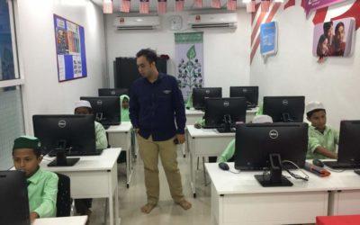 Launching Microsoft course for Al Rohenjya school students.