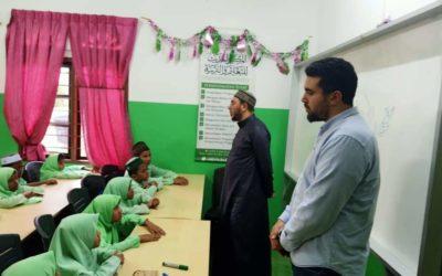 Sh Hesham Raheh and Abdulrahman Almansi visiting to AL Rohengya school