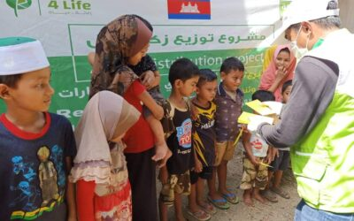 Distributing donor from United Arab Emirates money Zakat