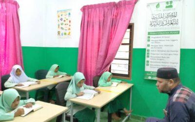 عودة الدراسة في مدرسة الروهينجيا مع كافة إجراءات السلامة