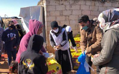 بث مباشر لتوزيع تبرعات حملة جمعةالخير  للاجئي سوريا في الأردن